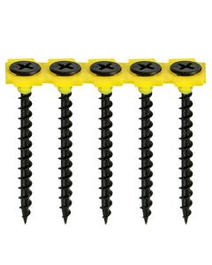 Collated Drywall Screws - Coarse Thread - PH - Bugle - Black - 3.5 x 55