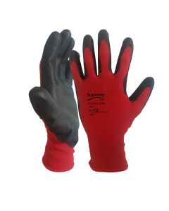 Red PU Coated  Cut 1 Gloves 100RB – Size L – Size 9