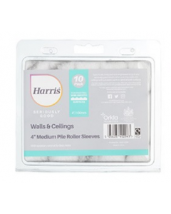 HARRIS SERIOUSLY GOOD 10 PACK, WALL & CEILING MEDIUM PILE MINI ROLLER SLEEVE 4""