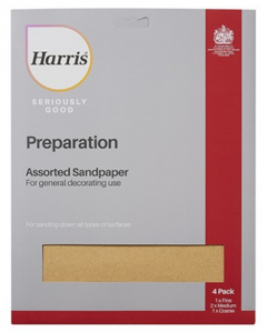 HARRIS SERIOUSLY GOOD SANDPAPER ASSORTED (PACK OF 4)