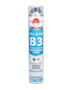 TIMco Fill & Fix Expanding PU Foam - B3 - Gun Grade - 750ml