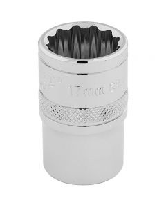 "DRAPER Expert 17mm 1/2"" Square Drive Hi-Torq® 12 Point Socket  33167"