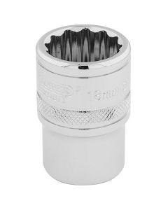 "DRAPER Expert 18mm 1/2"" Square Drive Hi-Torq® 12 Point Socket  33202"