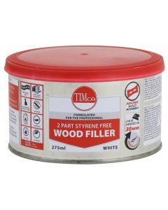 TIMco 2 Part Styrene Free Wood Filler - Pine - 275ml