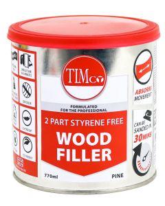 TIMco 2 Part Styrene Free Wood Filler - Pine - 770ml