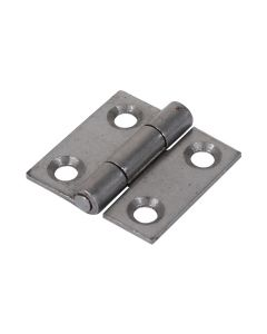 Veto Pair of Butt Hinges - Fixed Pin - Steel - Self Colour - 25 x 25