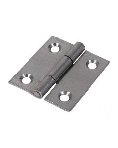 Veto Pair of Butt Hinges - Fixed Pin - Steel - Self Colour - 38 x 34