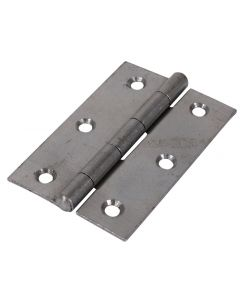 Veto Pair of Butt Hinges - Fixed Pin - Steel - Self Colour - 90 x 60