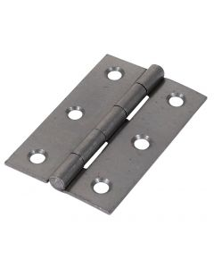 Veto Pair of Butt Hinges - Fixed Pin - Steel - Self Colour - 75 x 50