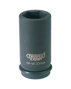 "DRAPER Expert 30mm 3/4"" Square Drive Hi-Torq® 6 Point Deep Impact Socket 71916"