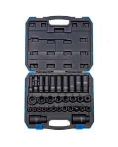 "DRAPER 3/8"" and 1/2"" Square Drive Impact Socket Set (32 Piece) 83098"
