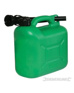 Silverline Plastic Fuel Can 5Ltr Green