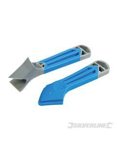 Silverline Sealant & Caulk Remover & Smoother Set 2pce