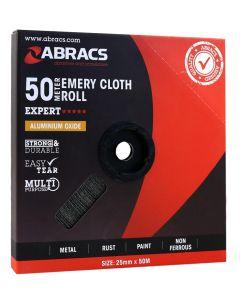 Abracs Emery Roll 25mm x 50M x 80grit