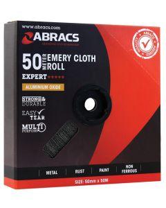 Abracs Emery Roll 50mm x 50M x 120 grit