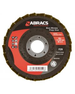 Abracs Polirico Non Woven Flap Disc 115mm Brown (Coarse)