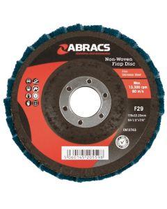Abracs Polirico Non Woven Flap Disc 115mm Green (Fine)
