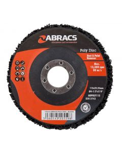 Abracs Poly Disc 115mm Black