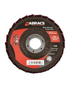 Abracs Non Woven Flap Disc 115mm Maroon (Medium)