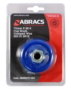 Abracs Wire Brush Crimp Cup 75mmx M14