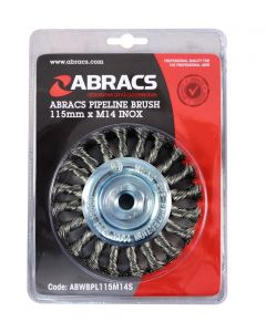 Abracs Twist Knot Bevel Brush 115mm x M14