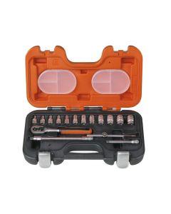 "BAHCO 16pcs 1/4"" Drive Socket Set - S160"