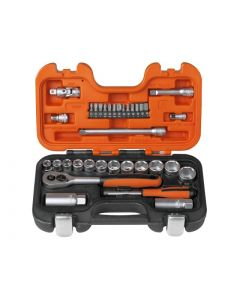 "BAHCO 34pcs 1/4"" & 3/8"" Drive Socket Set - S330"