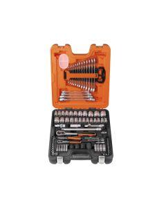 "BAHCO 1/4"" & 1/2"" Drive Socket & Spanner Set of 94 Metric & AF S87+7"