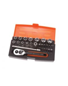 "BAHCO 25pcs 1/4"" Drive Socket Set SL25"