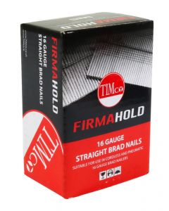 FirmaHold Collated Brad Nails - 16 Gauge - Straight - Galvanised - 16g x 64mm