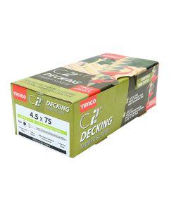 "C2 Advanced Decking Timber Screws - 4.5 x 50 (9 x 2"") - Countersunk Exterior Green (Box of 250)"