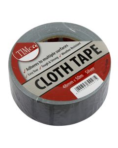 TIMco Cloth Tape - Silver - 50m x 48mm