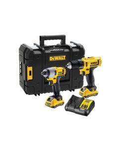 DEWALT XR Combi Drill & Impact Driver Twin Pack 12V 2 x 2.0Ah Li-ion DCK218D2T