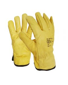 Yellow Leather Drivers Gloves DG-YCG SIZE L / SIZE 9