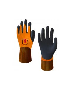 Warrior Double Dipped Latex Thermal Gloves - Size Medium / Size 9