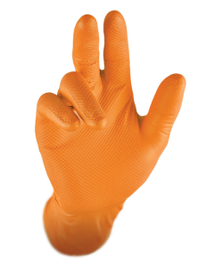 Fishscale Gloves Orange – Size 8 / Size M