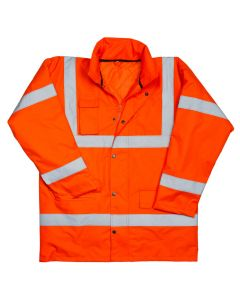 Warrior Hi Vis Utah Anorak Orange Large Jacket
