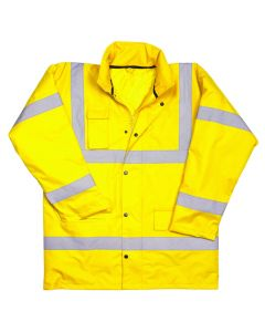 Warrior Hi Vis Utah Anorak Yellow Large Jacket