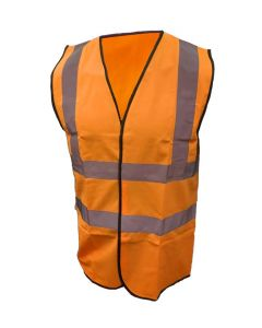 Warrior Orange Hi Vis Waistcoat L