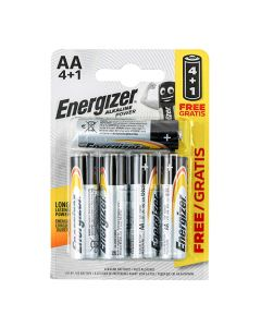 Energizer Alkaline Power AA Battery Pack of 4+1