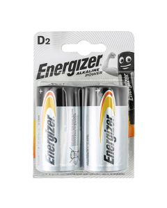 Energizer Alkaline Power Battery D E95 Pack of 2