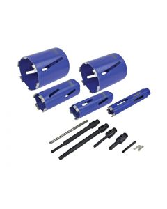 FAITHFULL Diamond Core Drill Kit & Case Set of 11 FAIDCKIT11