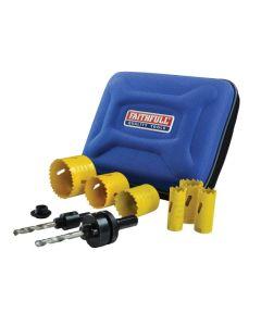 FAITHFULL Universal Varipitch Holesaw Electrician's Kit, 9 Piece 16-51mm FAIHSKE