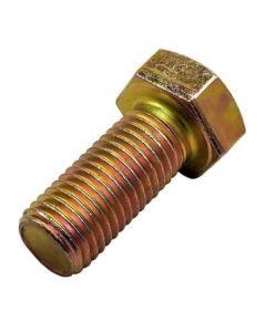 M12  x 1.25 x  30  Hexagon Set Screws High Tensile ( Metric Fine)   Grade 8.8  Yellow Zinc   DIN 961