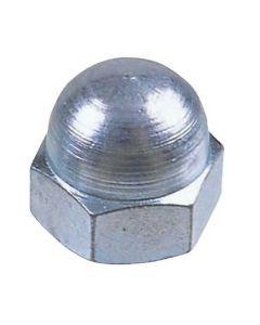 M10  Hexagon Dome Nuts  Mild Steel   Zinc Plated  DIN  1587