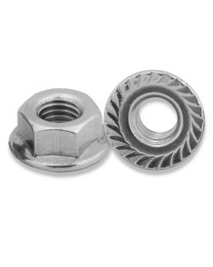 M10  Hexagon  Serrated Flange Nuts  Grade 8  Zinc Plated  DIN  6923