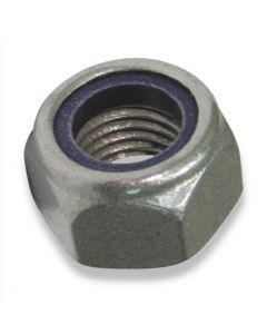 M10 Hexagon Nyloc Nuts Grade 8 DIN 985  Type T  Galvanized