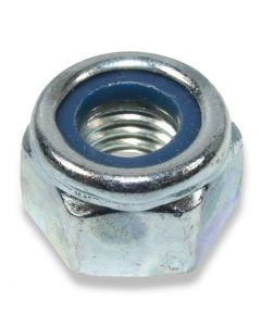 M10  Hexagon Nyloc Nuts  1.00 Pitch Fine Thread Grade 8  DIN 985 Type T Zinc Plated