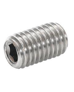 M4  x  10   Socket   Set ( Grubb)   Screws  Cup Point  Grade 45H    Zinc Plated  DIN 916