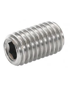 M6  x  10   Socket   Set ( Grubb)   Screws  Cup Point  Grade 45H    Zinc Plated  DIN 916